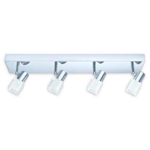 Eglo USA Nocera 4-Light Ceiling-Mount LED Track Light in Chrome