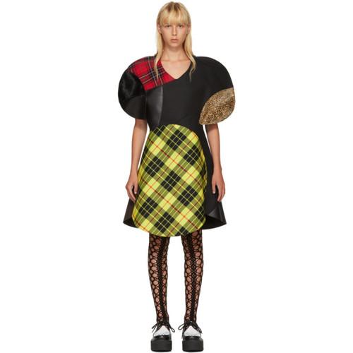 JUNYA WATANABE Multicolor Wool Tartan Mix Dress