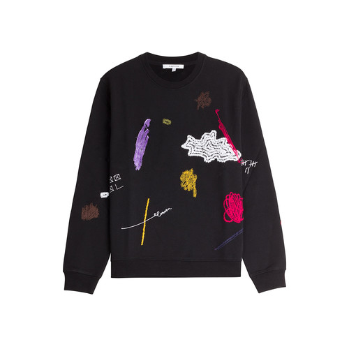 CARVEN Embroidered Cotton Sweatshirt