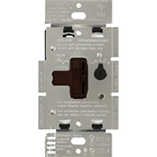 Lutron AYCL-153P-BR Ariadni/Toggler 150 Watt Single-Pole/3-Way Dimmable CFL/LED Dimmer, Brown [Brown]