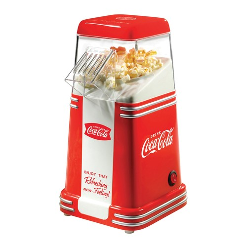 Nostalgia Electrics Coca-Cola 8-Cup Hot Air Popcorn Maker