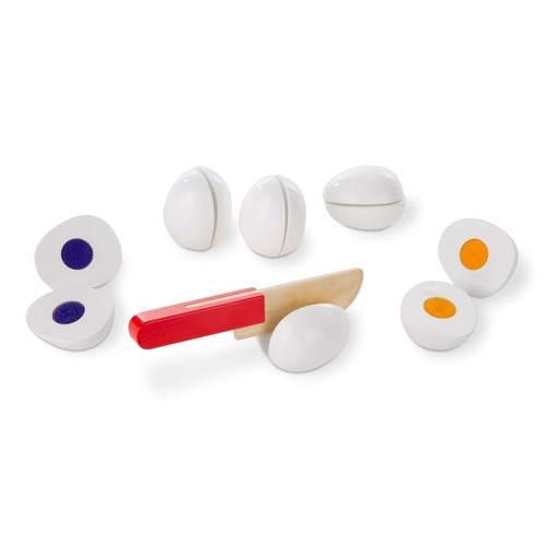 Melissa & Doug Slice and Sort Wooden Eggs Play Food Set