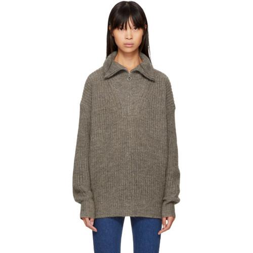 ISABEL MARANT ETOILE Beige Declan Zip Sweater