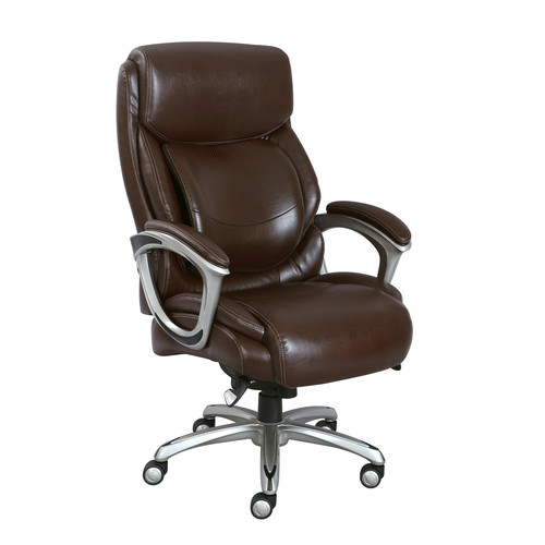 La-Z-Boy Big and Tall Bonded Leather Executive Chair - Brown
