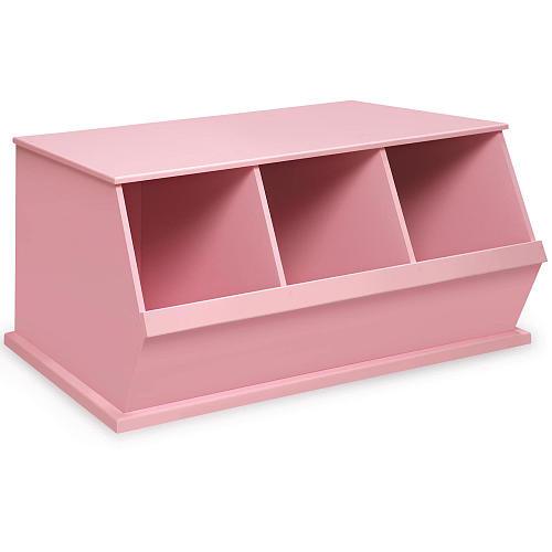 Badger Basket Three Bin Storage Cubby - Pink