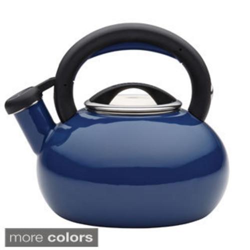 Circulon 'Morning Bird' Black Enameled Stainless Steel 2-quart Tea Kettle - Black