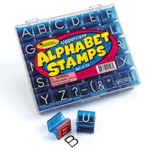 Learning Resources Uppercase Alphabet Stamp, 34/Set