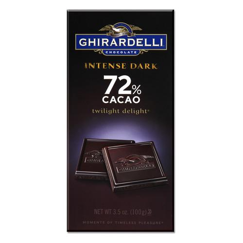 Ghirardelli Intense Dark Twilight Delight 72% Cacao Chocolate Bar, 12 pk./3.5 oz.