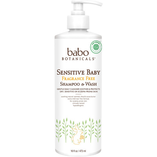 Online Only Sensitive Baby Fragrance Free Shampoo & Wash For Sensitive & Eczema-Prone Skin