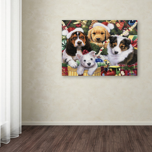 Jenny Newland 'Puppy Surprise' Canvas Art