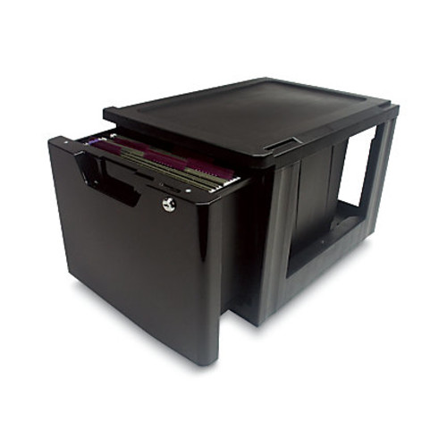 Iris Lockable Storage Drawer, Black