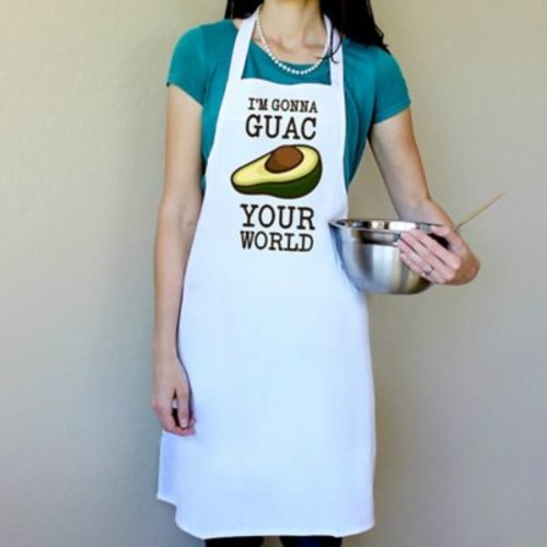 Love You A Latte Shop 100pct Cotton I'm Gonna Guac Your World Apron