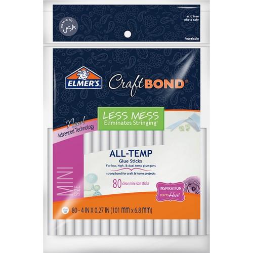Elmer's CraftBond All-Temp Less Mess Mini Glue Sticks 80/Pkg