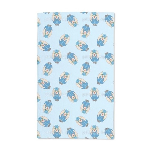 Owl at Idle Speed Hand Towel (Set of 2)