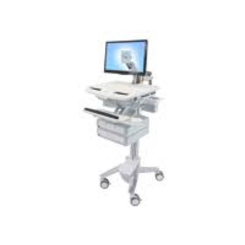 Ergotron StyleView - Cart with LCD Arm, 4 Drawers - Cart for LCD display / keyboard / mouse / bar code scanner / CPU