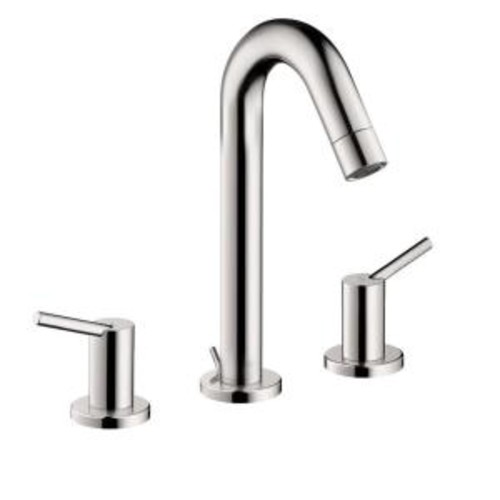 Hansgrohe Talis S 8 in. Widespread 2-Handle Mid-Arc Bathroom Faucet in Chrome
