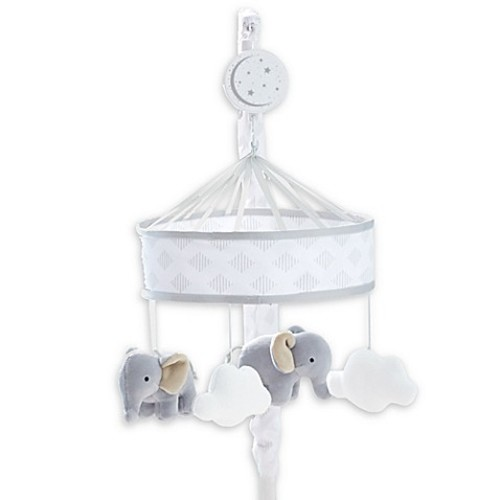 Just Born Dream Musical Mobile in Grey/White