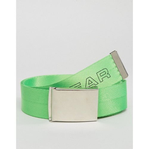 Granted Webbing Belt In Green With Nuclear Print