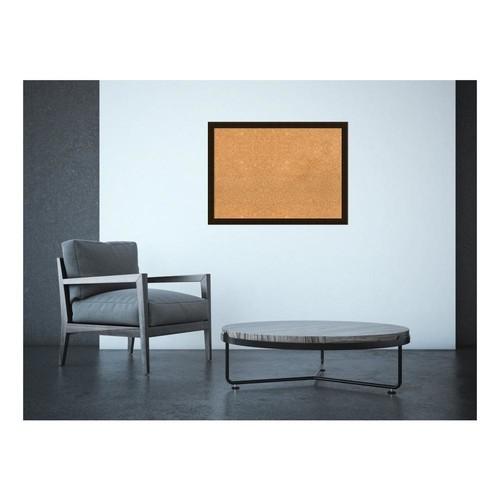 Amanti Art Espresso Brown Wood 30 in. x 22 in. Framed Cork Memo Board