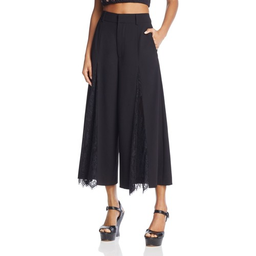 ALICE AND OLIVIA Onell Lace-Inset Gaucho Pants