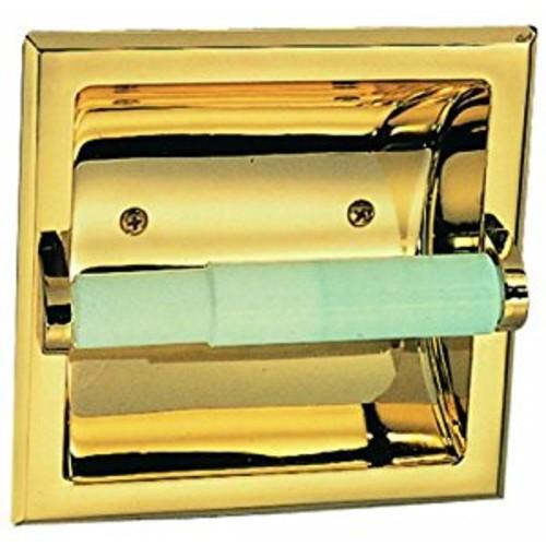 Design House 533372 Millbridge Recessed Toilet Paper Holder, Polished Brass [Polished Brass]