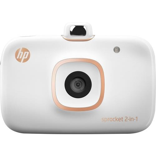 HP - Sprocket 2-in-1 Photo Printer - White