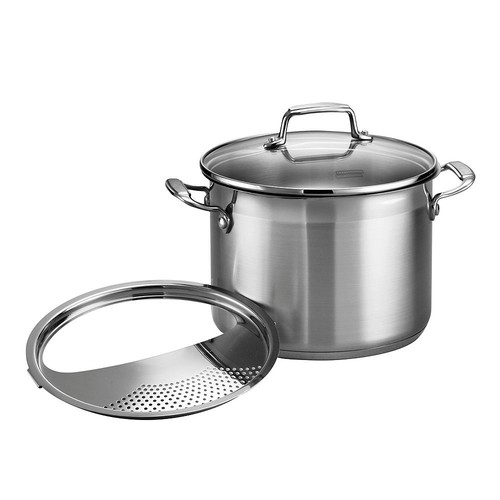 Tramontina 3-pc. Pasta Cooker with Lock and Drain Strainer