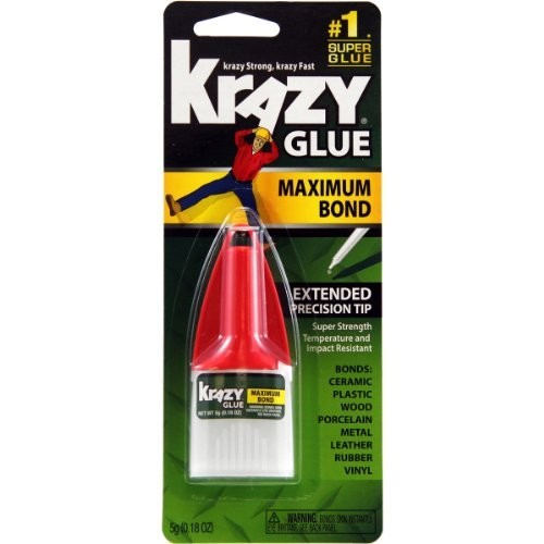 Krazy Glue KG48348MR Maximum Bond Krazy Glue, 0.18 oz. Extra Strong, Durable, Precision Tip