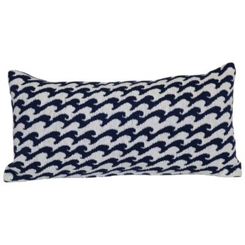 Outdoor Throw Pillow Lumbar - Woven Waves - Threshold