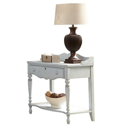 American Woodcrafters Newport 1-Drawer Monaco Blue Night Table
