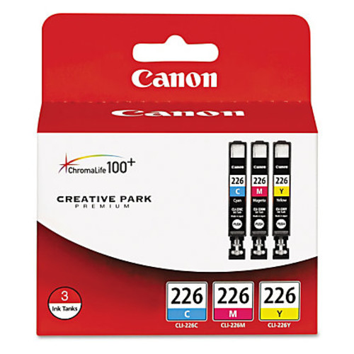Canon CLI-226 Assorted Ink Cartridges, Pack Of 3
