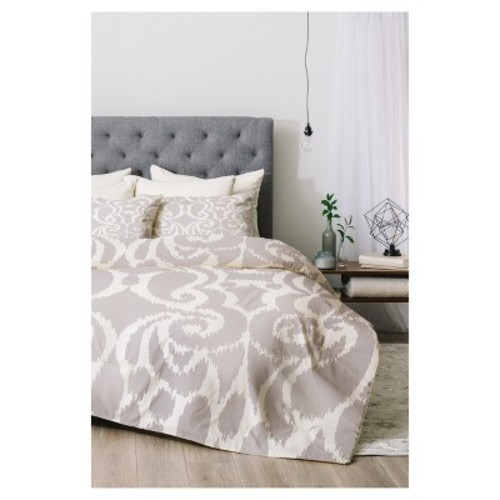 Gray Khristian A Howell Quiet Eloise Comforter Set - Deny Designs