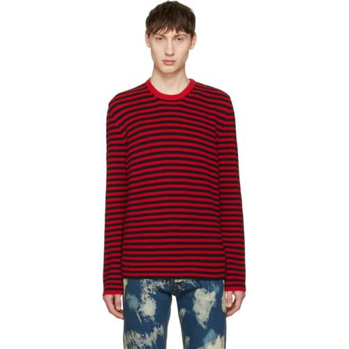 GUCCI Red & Black Stripes Sweater