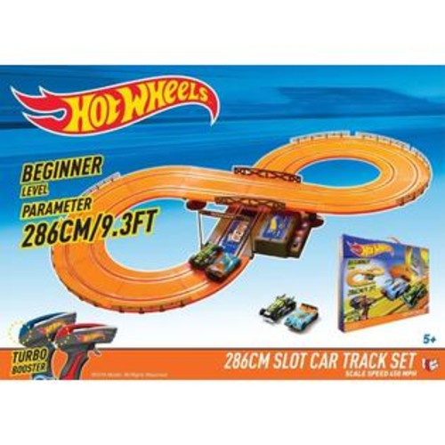 Kidz Tech 83105 9.3 ft. Battery Operated Slot Track Set, Orange u0026 Red