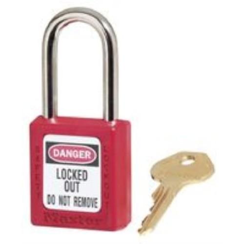 Master Lock Safety Keyed Padlock MLK410RED