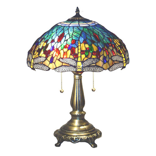 Tiffany-style Yellow Dragonfly Table Lamp