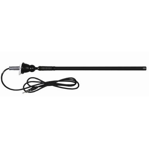 Dual Electronics MAR16B Flexible Mast Long Range Marine Antenna AM/FM Radio Antenna Black [Black, Mast]
