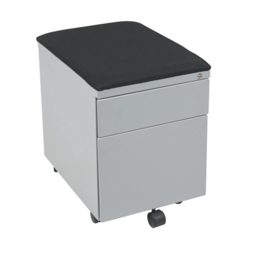 Office Star 2 Drawer Vertical Metal Lockable FileCabinet, Gray