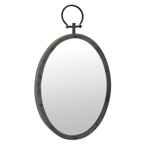 Stonebriar Collection Oval Metal Wall Mirror