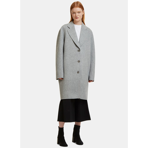 Landi Oversized Double-Faced Coat in Grey