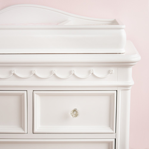 Baby Cache Adelina Changing Table Topper - Pure White