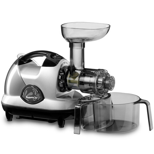 Kuvings NJE3580U Masticating Slow Juicer, Silver Pearl