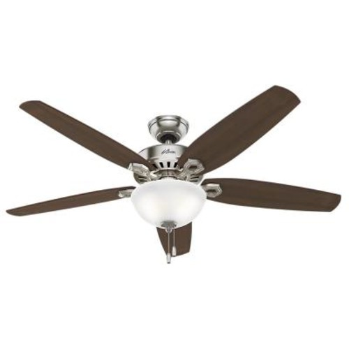 Hunter Builder Great Room 56 in. Indoor Brushed Nickel Bowl Ceiling Fan with Light Kit