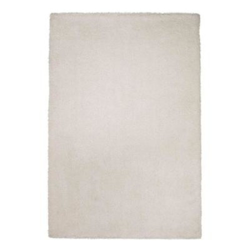 Kas Rugs Cushy Shag Ivory 2 ft. 3 in. x 3 ft. 9 in. Area Rug