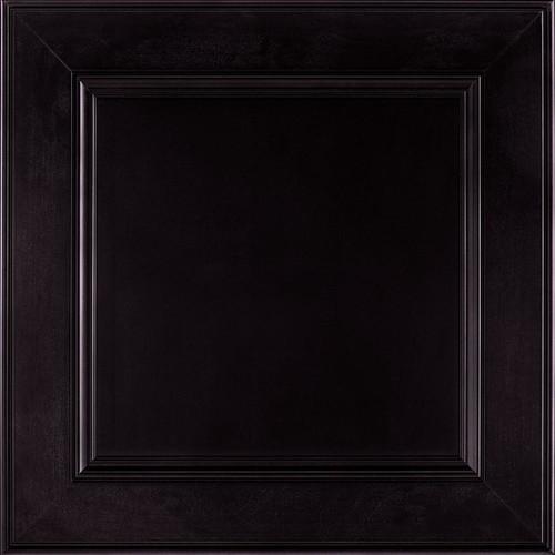 American Woodmark 14-9/16 x 14-1/2 in. Cabinet Door Sample in MacArthur Maple Espresso
