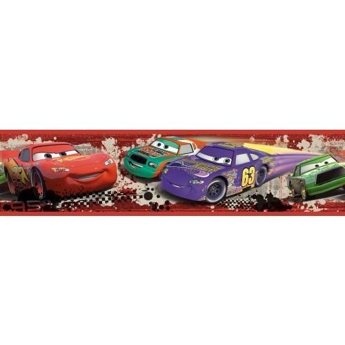 Roommates Rmk1516Bcs Disney Pixar Cars Piston Cup Racing Peel & Stick Border