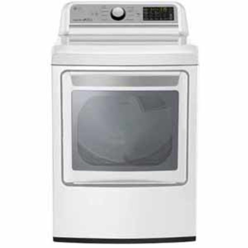 LG 7.3 cu.ft. Super Capacity Electric Dryer - White
