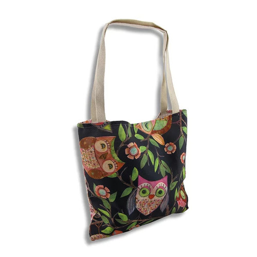 Wendy Bentley `Give a Hoot` Owl Tote Bag - Multicolored