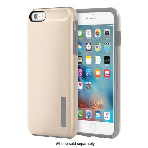 Incipio - DualPro SHINE Case for Apple iPhone 6 Plus and 6s Plus - Champagne/Gray
