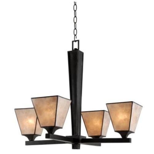 Kenroy Home Capell 4-Light Bronze Chandelier